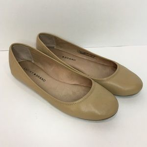 🍀LUCKY BRAND Nude Leather Flat Shoe